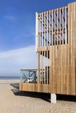 Квартира на пляже фургона Голландии Hoek Стоковое Изображение
