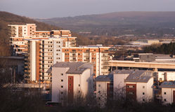 Квартиры в солнечном свете утра Стоковая Фотография RF