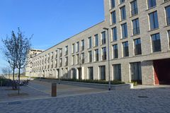 Квартиры в Eddington северо-западном Кембридже Стоковое Изображение