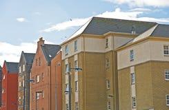 квартиры города зданий цветастые самомоднейшие Стоковое Изображение
