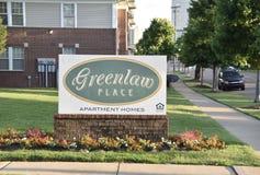 Квартиры места Greenlaw подписывают, Мемфис, TN стоковое изображение rf