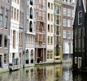 Квартиры на воде в Амстердаме Стоковые Фото