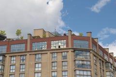 Квартиры низкого подъема жилые в городском Торонто Стоковая Фотография RF