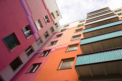 квартиры покрасили стоковые изображения rf