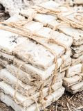 Квартиры соли в Afar зоне, Danakil Стоковые Изображения RF