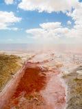 Квартиры соли в Shannah, Омане Стоковая Фотография RF