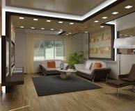 квартиры 3d нутряные Стоковое фото RF