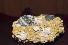 Кварц и Sphalerit золота Стоковая Фотография