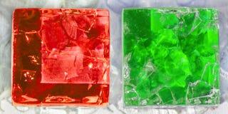 2 квадрата треснутого стекла Стоковые Фото
