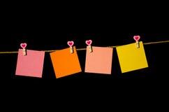 4 квадрата чистого листа бумаги Стоковое Изображение