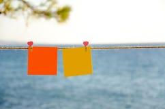 2 квадрата чистого листа бумаги Стоковая Фотография RF