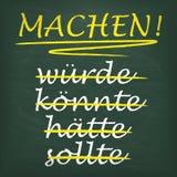 Квадратическая мотивировка Machen классн классного Стоковое Фото