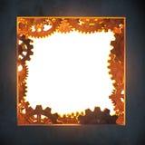 Квадратная апертура с шестернями. Стоковое фото RF