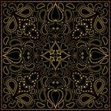 Квадратная картина золота Стоковые Фотографии RF