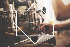 Квадратная концепция шаблона украшения искусства дизайна рамки Стоковые Изображения