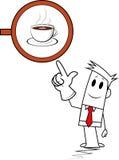 Квадратная кофейня парня Стоковые Изображения RF
