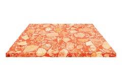 квадратная красная мраморная плита изолированная на белизне Стоковые Изображения