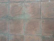 Квадратная краснокоричневая текстура кирпичей Стоковые Фотографии RF