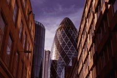 Квадратная миля Великобритания улицы района Лондона финансовое Стоковое Изображение RF