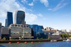 Квадратная миля горизонта района Лондона финансовое Стоковое Изображение