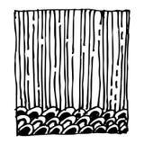 Квадратная нарисованная рука doodle картины дизайна Стоковые Фото