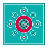 Квадратная открытка Стоковое фото RF