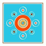 Квадратная открытка Стоковое Изображение