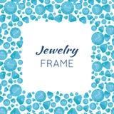 Квадратная рамка сделанная диамантов Стоковое Изображение