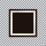 Квадратная рамка фото с тенью на прозрачной предпосылке иллюстрация вектора