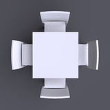 Квадратная таблица с 4 стульями Стоковая Фотография RF