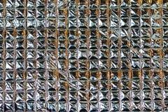 Квадратная текстура фольги Стоковая Фотография RF