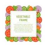 Квадратная vegetable рамка Стоковые Фото