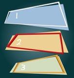Квадратное знамя рамки Стоковые Изображения RF