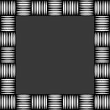 Квадратное фото формата, картинная рамка с мозаикой линий Стоковое Фото