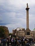 квадратное trafalgar Лондон Стоковое фото RF