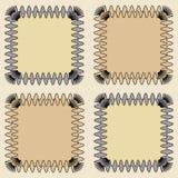 Квадратные абстрактные рамки Стоковое фото RF