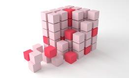 Квадратные блоки формируя куб Стоковое Изображение RF