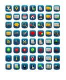 Квадратные значки сети Стоковые Изображения