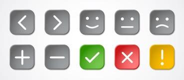 Квадратные кнопки с символами Стоковое Фото