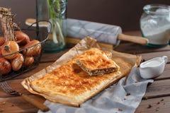 Квадратный пирог мяса Стоковая Фотография RF