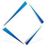 Квадратный символ квадрата конспекта геометрического элемента Квадратный логос иллюстрация вектора