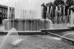 Квадратный фонтан Стоковые Фото