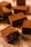 Квадратный шоколад Стоковые Изображения