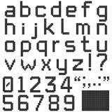 Квадратный шрифт пиксела Стоковые Фотографии RF