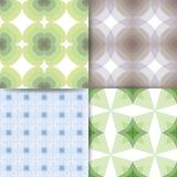 Квадраты зеленые и голубая картина Стоковое Изображение RF