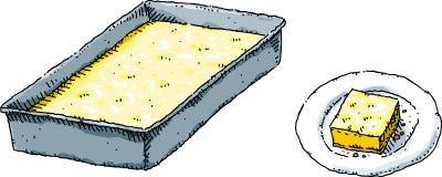 Квадраты лимона иллюстрация вектора