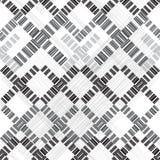 Квадраты и нашивки абстрактная геометрическая картина безшовная Предпосылка monochrome вектора иллюстрация вектора