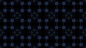 Квадраты на темной предпосылке акции видеоматериалы
