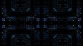 Квадраты на темной предпосылке сток-видео