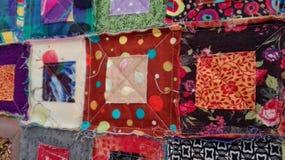 Квадраты лоскутного одеяла Стоковое Фото
